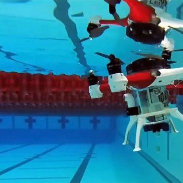 Дрон, який вміє літати, пірнати і плавати презентували у Новій Зеландії